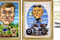 syntymäpäivälahjaksi-40v-50v-lahjaksi-karikatyyri-muotokuva-tilaustyönä-valokuvasta