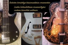 kitaroiden-bassojen-soittimien-kustomointia-ja-käsinmaalattuja-koristeluja