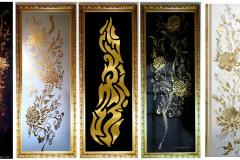 sisustustauluja-kulta-kupari-hopea-käsinmaalatut-upeat-koristemaalaukset-seinämaalaukset-hienoimmat-sisustustaulut-käsinmaalattuina