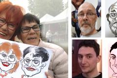 elävä-esiintyjä-piirtää-karikatyyrejä-muotokuvia-livenä-juhlat-tapahtumat-synttärit-häät